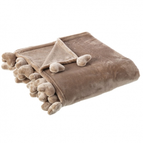 Manta de sofá romántica beige de poliéster para salón Child