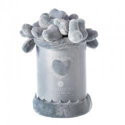 Manta de sofá romántica gris de poliéster para salón Vitta