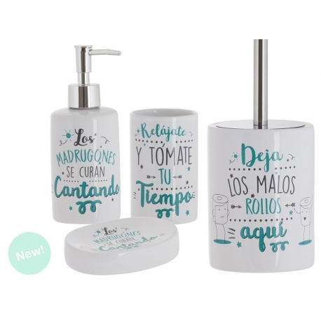 Set de baño frases original de cerámica para cuarto de baño .