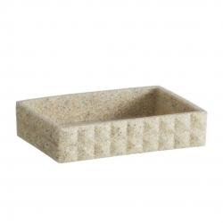 Jabonera arena de baño modernos beige de poliresina para cuarto de baño Factory