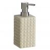Dosificador jabón arena de baño modernos beige de resina para cuarto de baño Factory