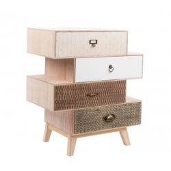 "Cajonera 4 cajones ""SCANDI"" madera natura diseño moderno ."