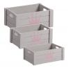 "Juego 3 cajas multiusos original ""CORONA"" de madera"
