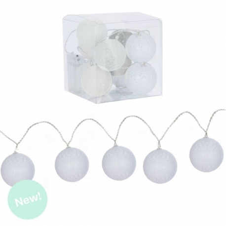 Guirnalda 10 bolas led blancas .