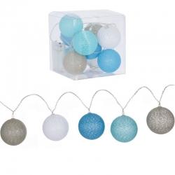 Guirnalda 10 bolas led azules .