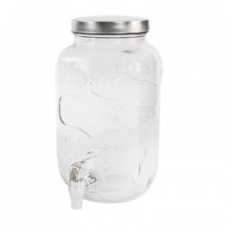 Dispensador de bebidas cristal vintage para 3,5 litros