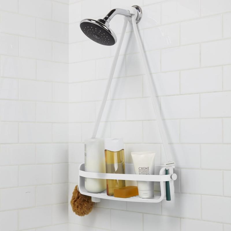 Flexo de ducha caddy color blanco umbra - Estantes para interior ducha ...
