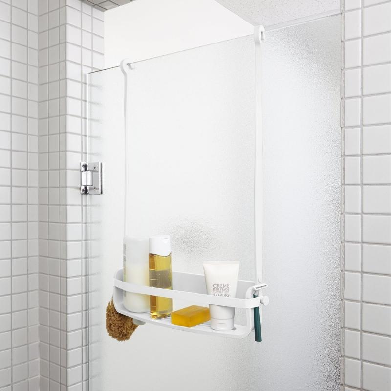 Flexo de ducha caddy color blanco umbra - Estante para ducha ...
