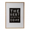 "Cuadro madera decorativo frase "" THE BEST IS YET TO COME"""