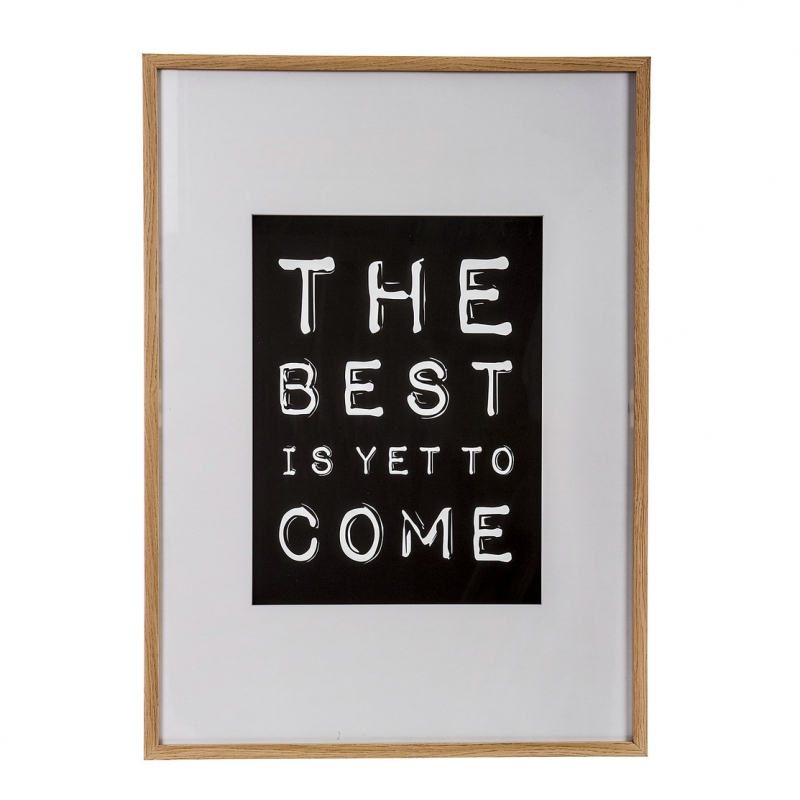 Cuadro madera decorativo frase the best is yet to come - Cuadros de frases ...