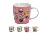 Tazas cupcakes ceramica home made 4 colores / Set de 4 tazas