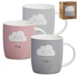 Juego de 3 tazas originales diseño moderno nubes caja de regalo