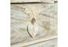 Cajonera de 2 cajones provenzal beige de madera para dormitorio Vitta