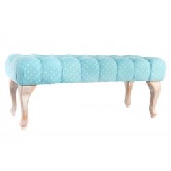 Mueble descalzador madera decapé tela 100 x 42 x 40 cm .