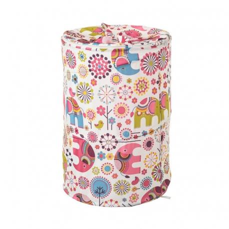 Cesto pongotodo infantil pink-phant de poliéster para cuarto de baño Fantasy