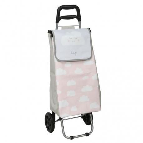 Carro de compra infantil nubes con rueda plegable .