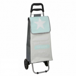 Carro de compra original estrella frase con rueda plegable .