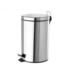 Papelera de 3 litros clásica plateada de acero para baño Basic .
