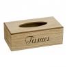 Caja porta pañuelos madera natural para tissues .