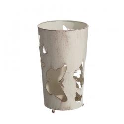 Paragüero de diseño romántico beige de metal para la entrada France