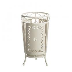 Paragüero de diseño romántico blanco de hierro para la entrada France