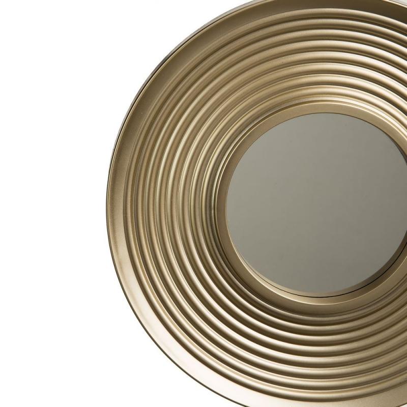 Juego de 3 espejos de pared modernos dorados para sal n for Espejos pared salon