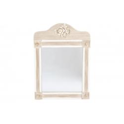 Espejo de pared madera natural envejecido 56x76 cm .
