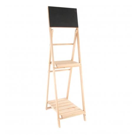Estantería de 2 estante con pizarra para decoracion 40x48x147 cm .