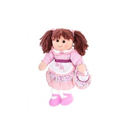Muñeca tela rosa 35 cm
