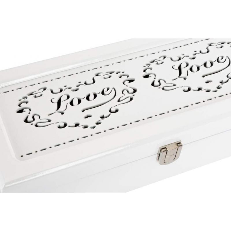 ea55abd18791 Joyero relojero de madera corazon love para 5 relojes blanco lacado ...