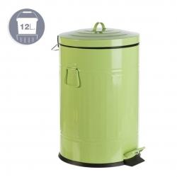 Papelera Antigua 12L Verde Pastel