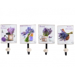Pack 4 Percheros de pared metal lavanda 1 colgador .
