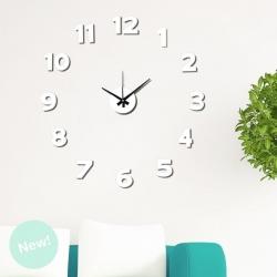Reloj Adhesivos de pared blanco acolchado 50x50 cm