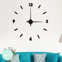 Reloj Adhesivos de pared negro XXL 100x100 cm .