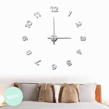 Reloj adhesivos de pared aluminio xxl 100x100 cm for Adhesivos de pared