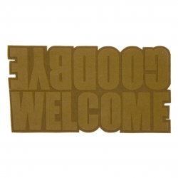 "Felpudo antideslizante pvc poliester "" GOODBYE WELCOME """