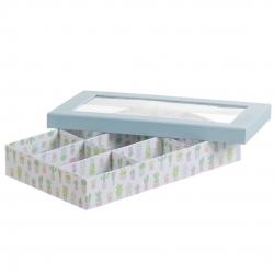 Caja con ventana 9 departamentos diseño CACTUS .
