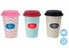 Mug diseño romantica colores con tapa de silicona (Set de 3 mug)