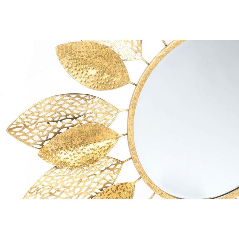 Espejo de pared provenzal dorado de metal para la entrada for Espejo dorado bano