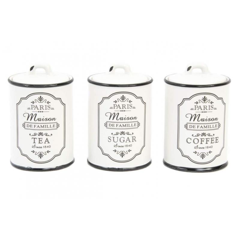 Botes ceramica blanco negro dise o paris for Ceramica de cocina precios