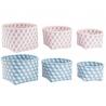 Juego de 3 cestas ordenacion redondos color pastel .