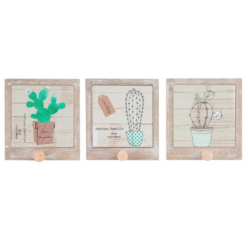 pack percheros de pared individual de madera colgador