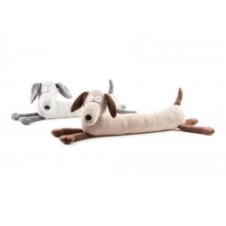 Sujetapuerta perro de tela / arena 85x25 cm .