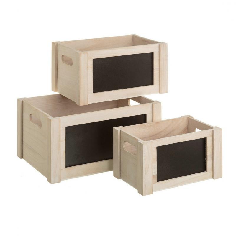 Cajas de pizarra rom nticas blancas de madera para for Cajas de madera blancas