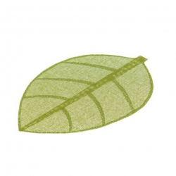 Juego de 4 salvamanteles de mesa hoja verde fibra 50 x 33 cm .