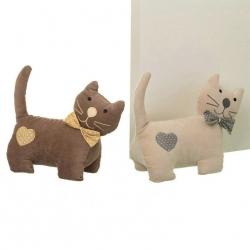 Tope de puerta decorativo gato tela-alena .