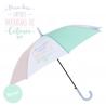 "Paraguas largo original colores pastel "" PARA DIAS GRISES PARAGUAS COLORES """