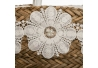 Capazo natural- blanco fibra natural 20 x 51 x 55 cm