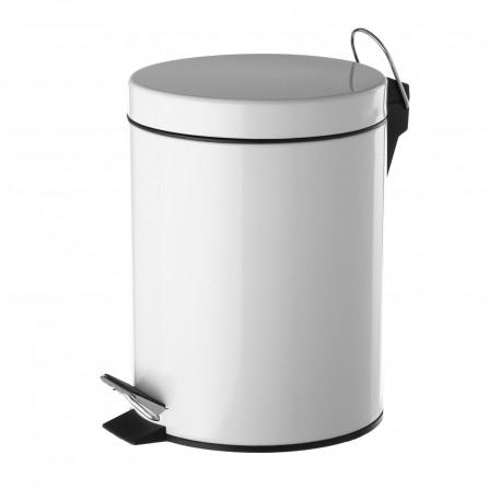 Papelera blanco metal 20,50 x 26,50 x 27,50 cm capacidad: 5 litros.