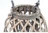Farola minbre madera cristal 22x37 cm natural.